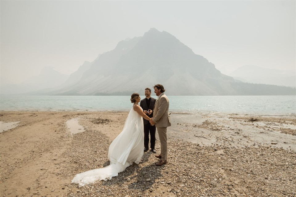 Adrianna Pritchard and her husband eloped to Banff in July 2021 after postponing their wedding once already.