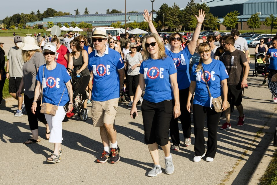 The Every Mile is for Moe team gets underway as the run begins at Ray Twinney Recreation Complex on Eagle Street. Photography by Gary Collier