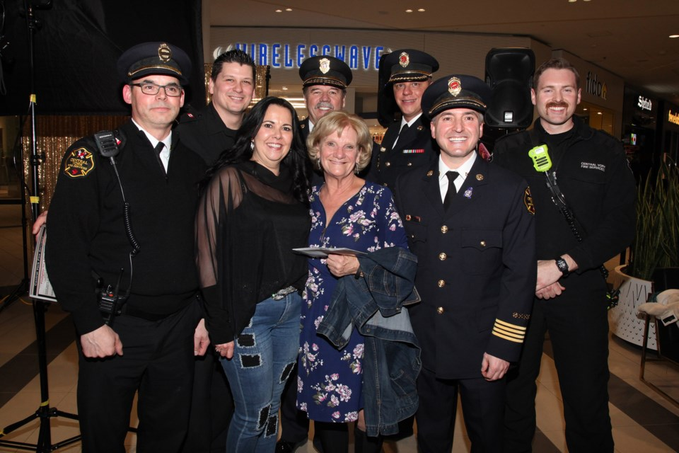 Lori Harrison and Jackie Playter each bid $800 to be Central York Fire Services firefighters for a day to benefit the Women's Centre of York Region at the annual Girls Night Out at Upper Canada last night.  Greg King for NewmarketToday