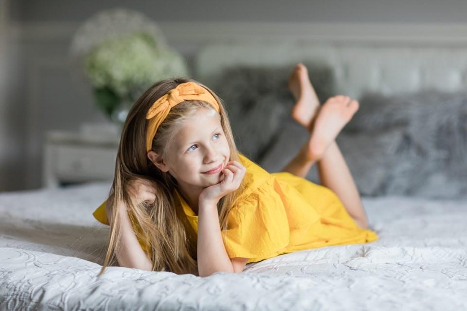 Keswick's Elizabeth Usova-Tomaili was selected to model in the Nov. 30 Toronto Kids Fashion Week Show. Supplied photo/TKFW