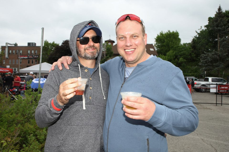 Kevin Fallow and Carmine Carlesimo are seen here at the 2019 Newmarket Craft Beer Festival at Riverwalk Commons.  File photo/Greg King for NewmarketToday