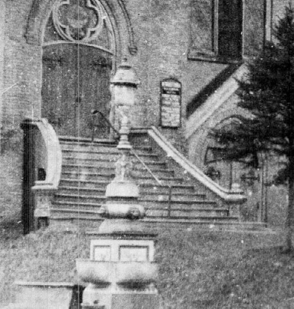 A fountain outside a Main Street church celebrated the 'vanquishment of the demon rum' until the 1950s, thanks to the Women's Christian Temperance Union.
