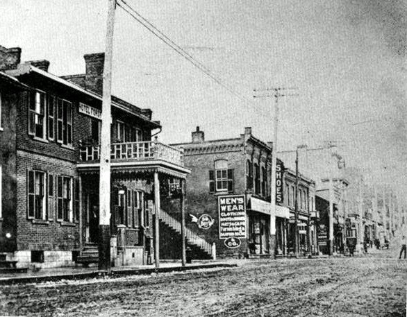A view of the King George Hotel from across Main Street.