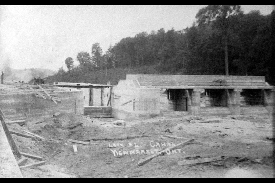 In 1910, Lock 2, at north Main Street, was nearly complete.