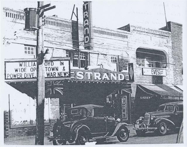The Strand Theatre operated from 1912 to 1923 until the new Palace Theatre opened.