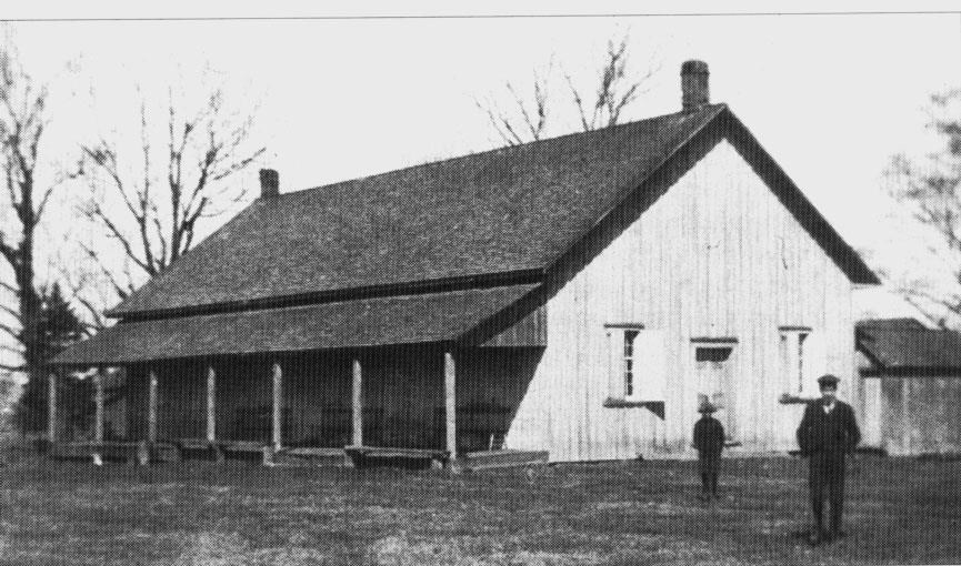 The Society of Friends Meeting House still stands on Yonge Street in Newmarket, south of Eagle Street.