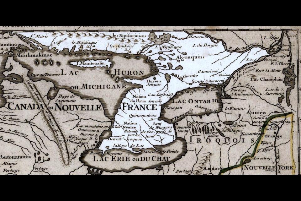 Ontario, 1718.