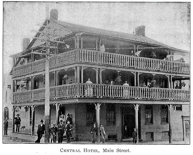 The Central Hotel in 1897.