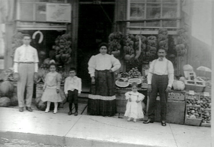 Rusto's Fruit Market, on Main Street Newmarket in the early 1900s.