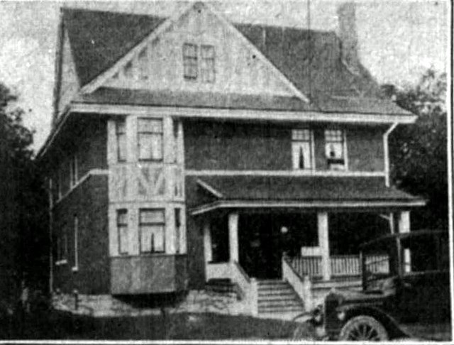 The first hospital for York County, established by Dr. Lowell Dales in his home, next to the Christian Baptist church, on the east side of Main at Millard.