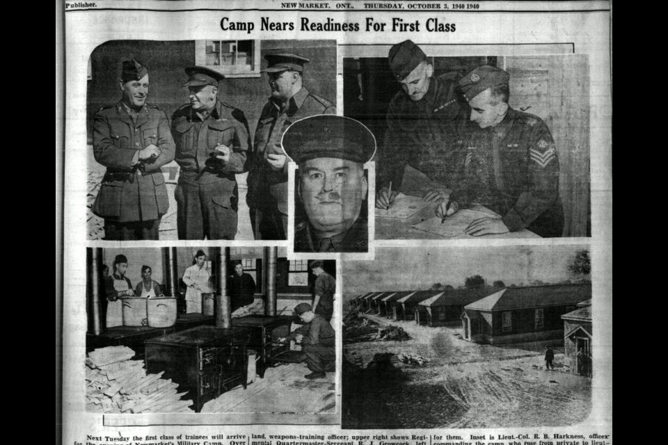 The local newspaper highlights the activities at the military camp as it prepares for the arrival of its trainees in October 1940.