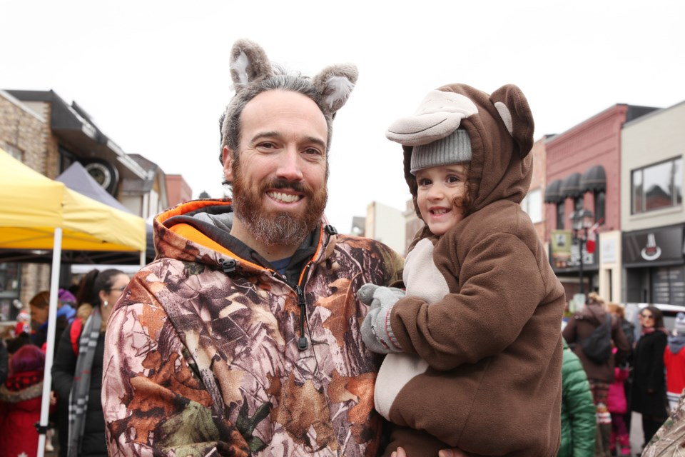 Michael Hepditch and Brooklyn joined the Halloween fun on Main Street yesterday.  Photography by Greg King