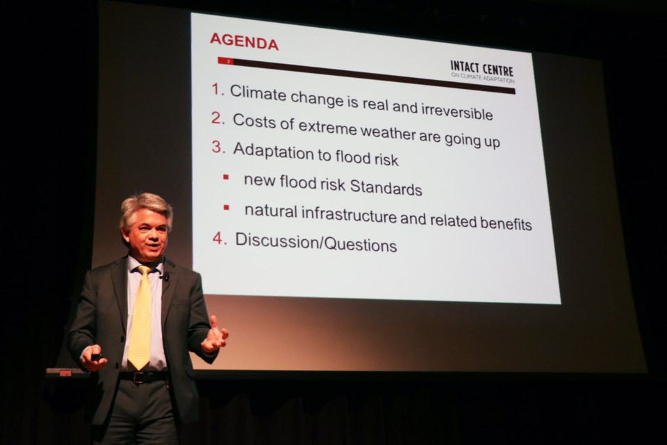 Climate change expert Dr. Blair Feltmate spoke at the Lake Simcoe Region Conservation Authority's annual general meeting Jan. 25.