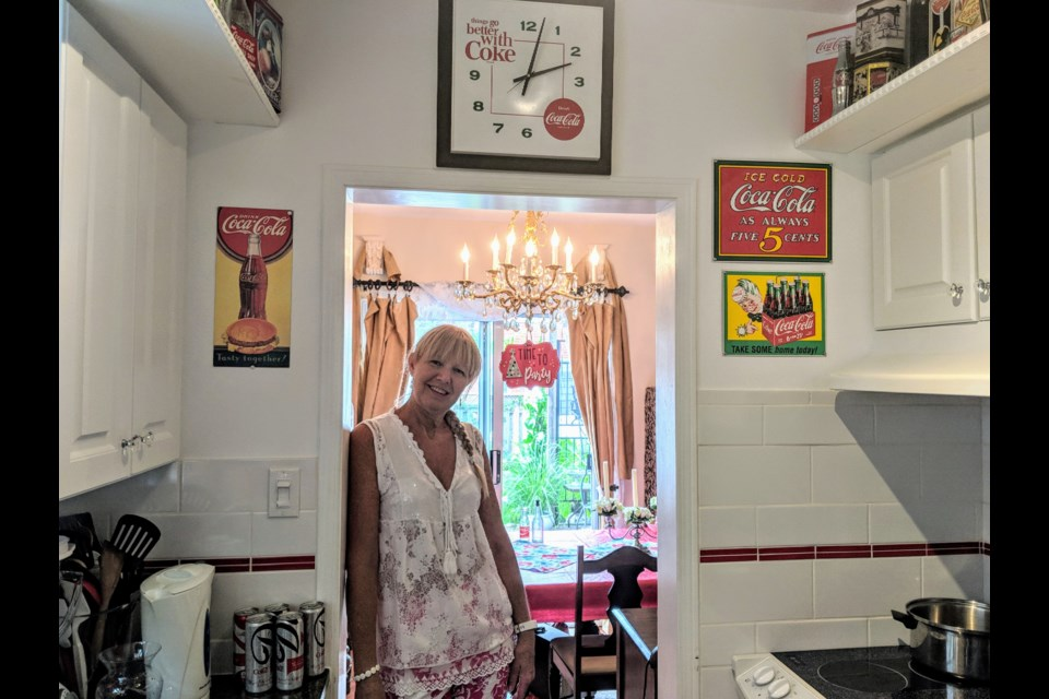 Avid Coca-Cola collector Rhian expects to soon put a majority of her collection up for sale. Kim Champion/NewmarketToday