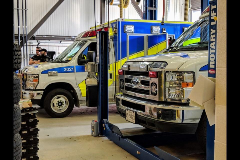 York Region paramedics and ambulances.