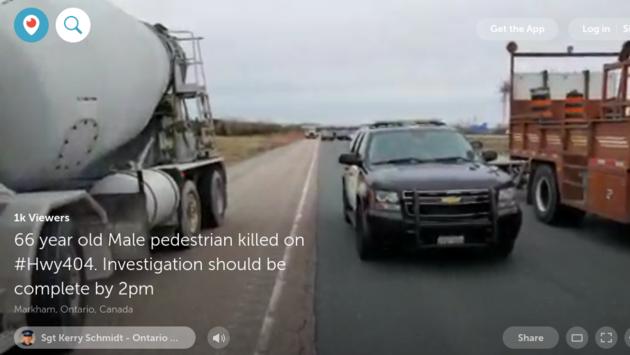 2019-04-29 OPP Hwy 404 pedestrian fatal