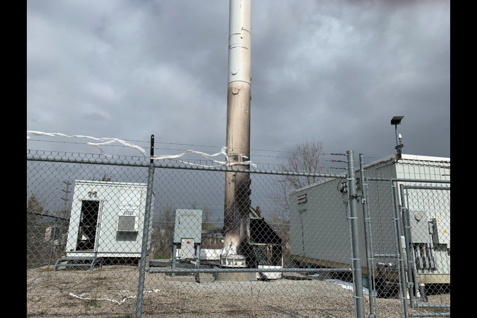 York Regional Police say a cellphone tower fire at Leslie and Crowder was deliberately set.