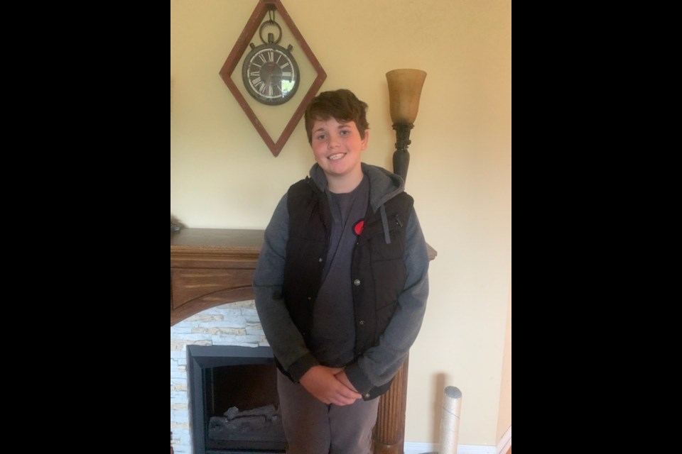 Police provided photo shows Deklan Fitzgerald, 13, a vulnerable youth who is missing.