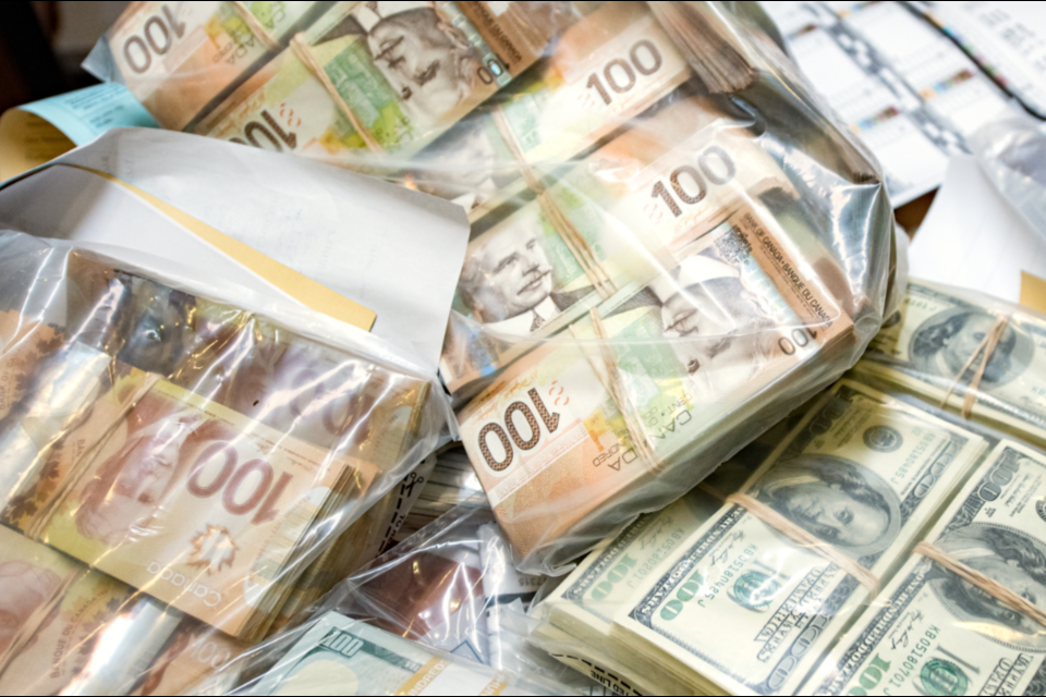 Investigators seized roughly $1 million in cash. Photo supplied by York Regional Police