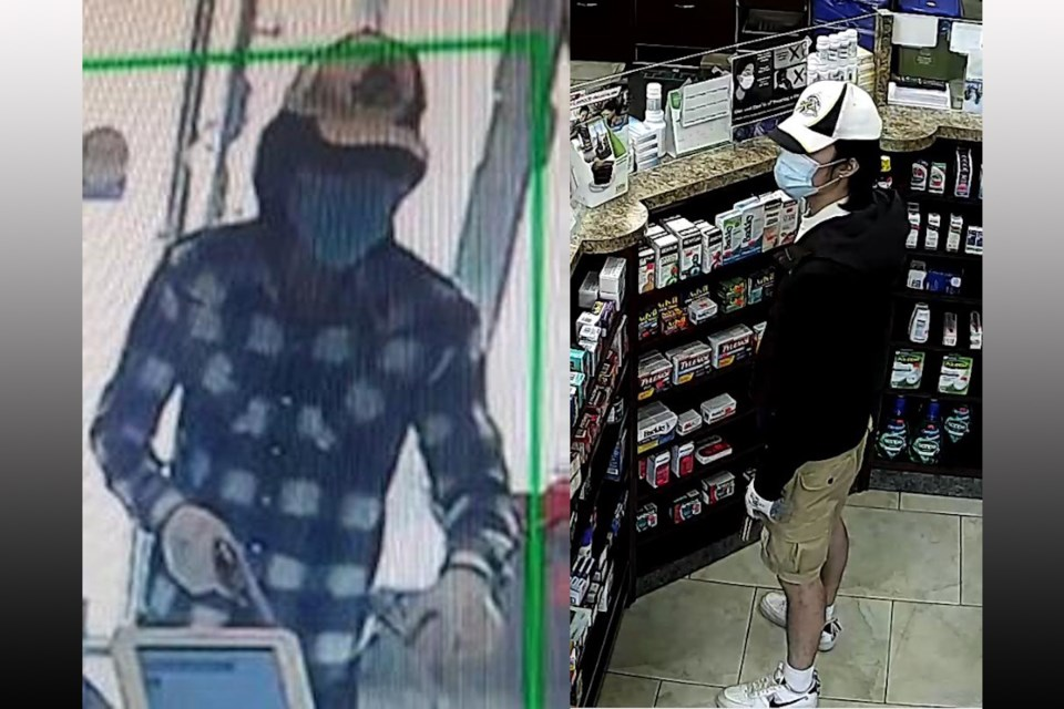 Police hope to identify a person of interest in two Markham armed robbery investigations