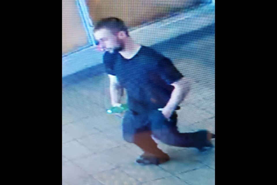 Toronto Police Services seek Terence Frezell, 28, shown above in a security camera image, in an investigation into a series of break-and-enters and sexual assaults. Supplied photo/Toronto Police Services