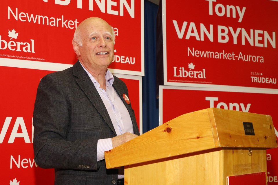 Former Newmarket mayor Tony Van Bynen was acclaimed July 8 as the Liberal Party of Canada's candidate for the Newmarket-Aurora riding. Greg King for NewmarketToday