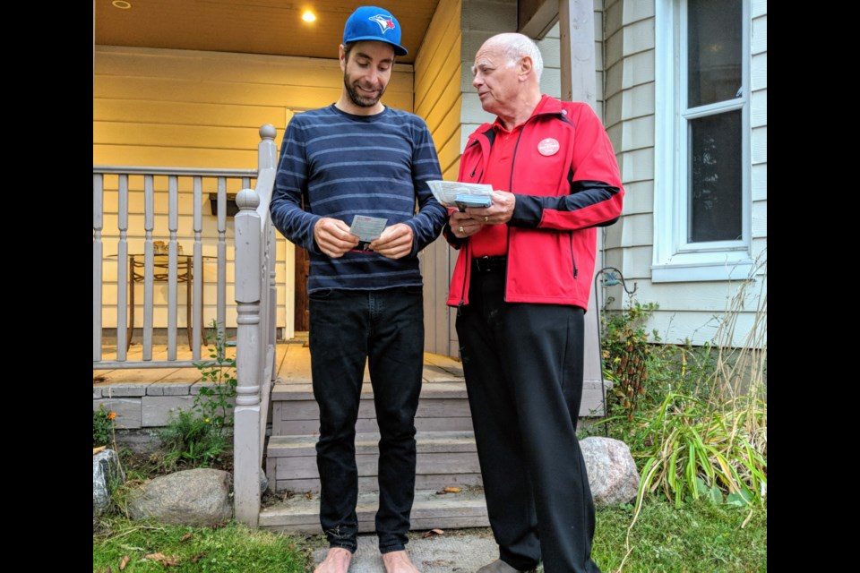 Newmarket resident Jeremy Anderson says he's voting Green in the federal election because of its climate change policies. Kim Champion/NewmarketToday