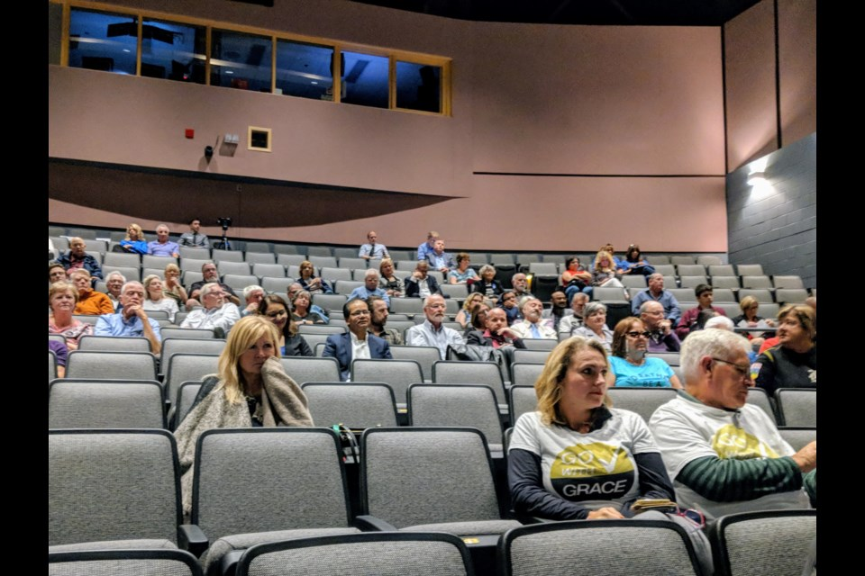 There were plenty of empty seats at the Newmarket Theatre for the debates for mayoral and deputy mayor and regional councillor candidates.