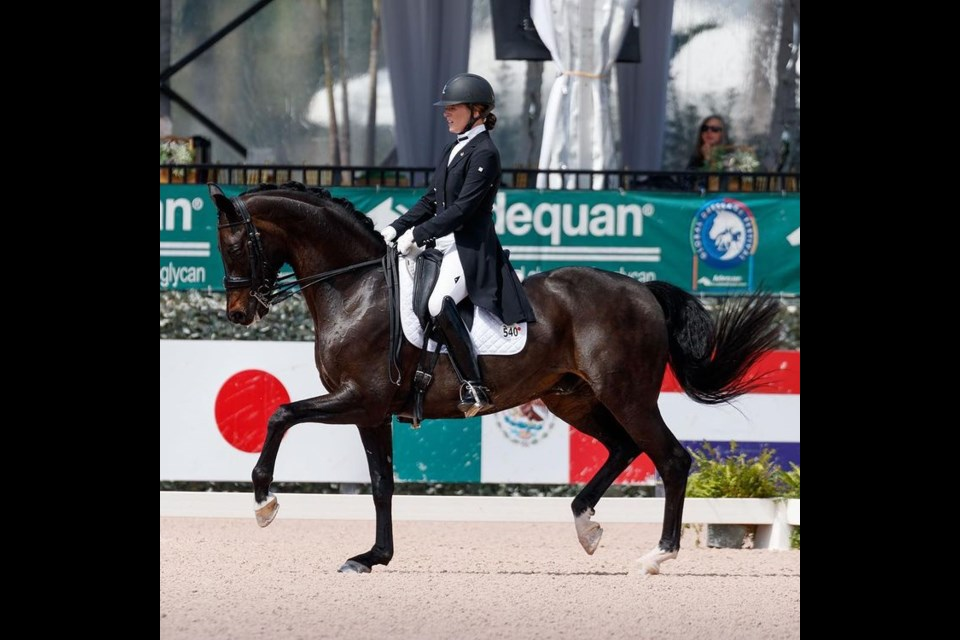 Lindsay Kellock, who grew up in Newmarket, is competing in dressage at the Tokyo Games.
