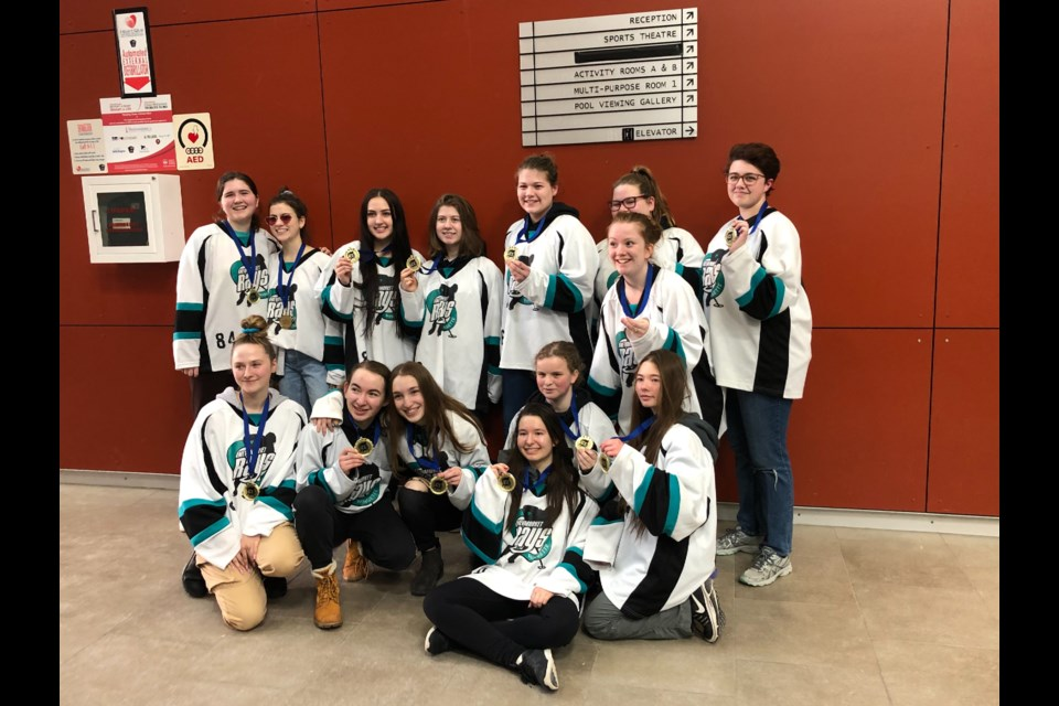 The Newmarket Rays' U19B were named silver medallists at the 2020 Ignite the Ice tourney. Supplied photo/Alyssia Byers