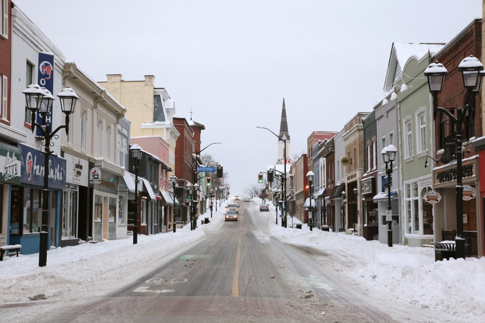 Main Street looking north at Timothy Street.  Greg King for Newmarket Today