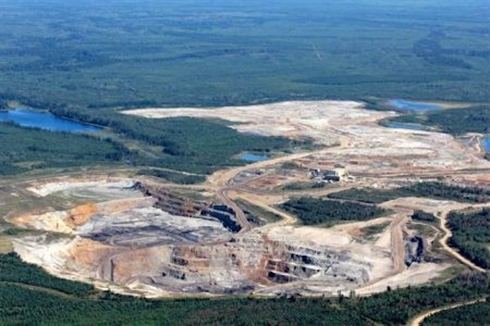 Former Cargill phosphate mine, southwest of Kapuskasing.