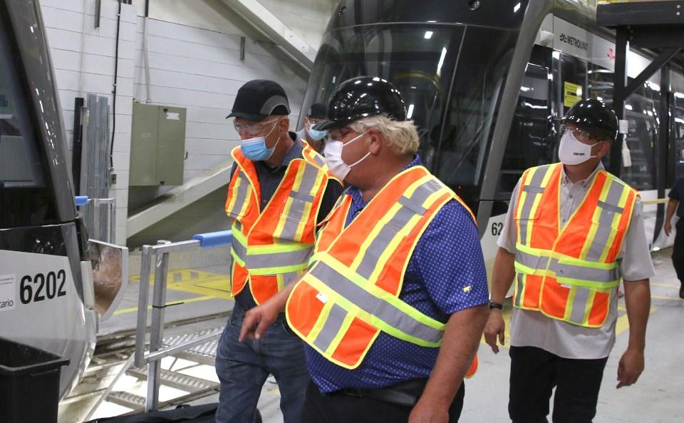 Alstom Thunder Bay Doug Ford visit Aug. 2021