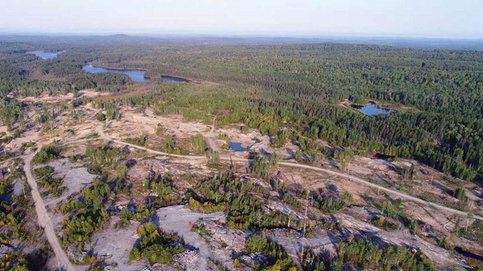 Argonaut Gold Magino Mine aerial photo