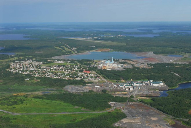 Newmont Goldcorp's mine trend in Red Lake.