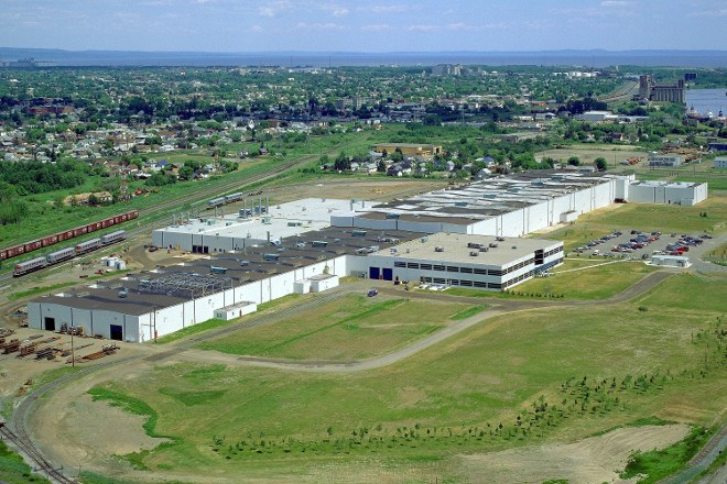 Bombardier's Thunder Bay transit coach assembly plant. (Bombardier photo)