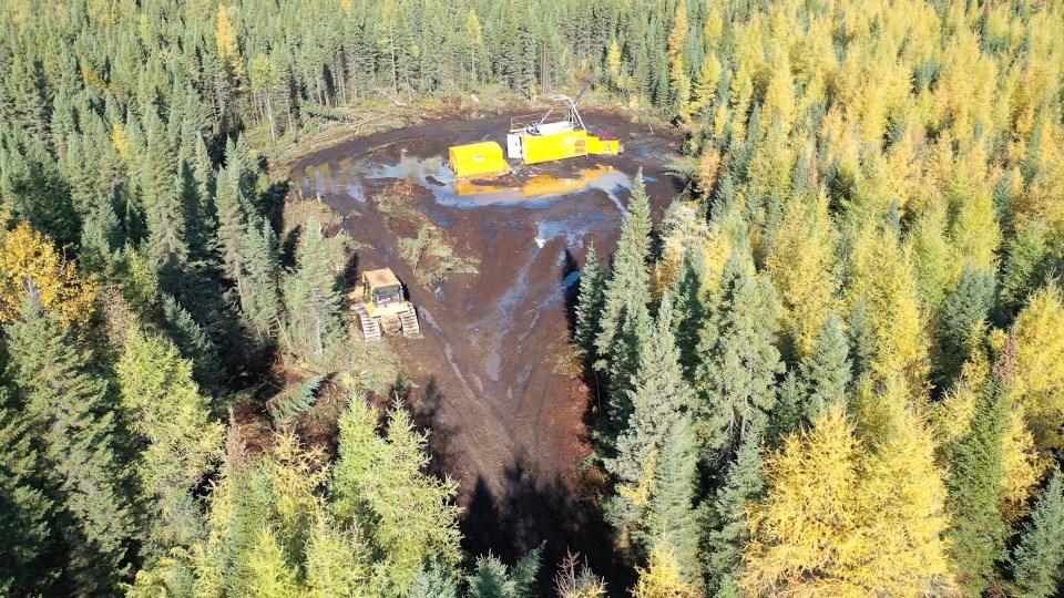 Canada Nickel drill rig aerial
