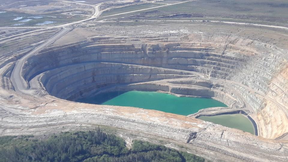 De Beers Victor Diamond Mine pit