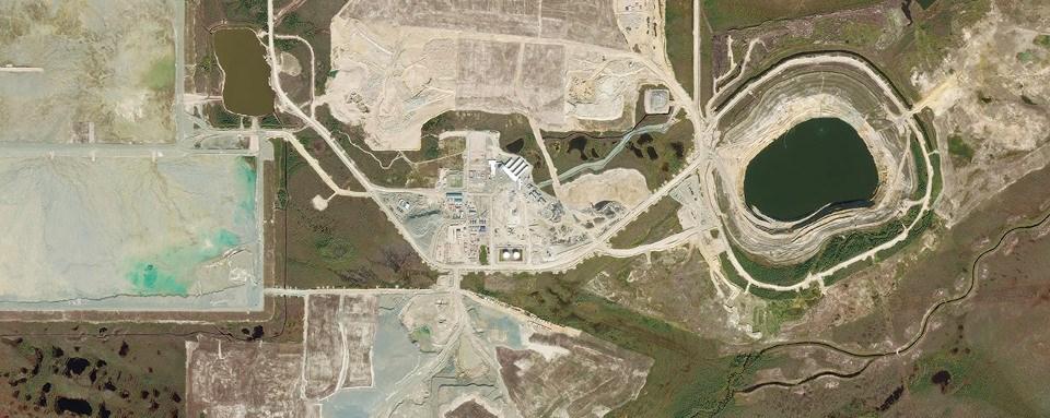 De Beers Victor Mine aerial overhead