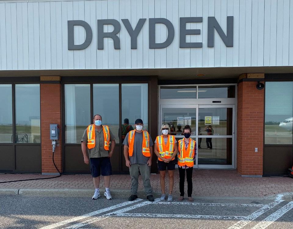 Dryden Airport staff