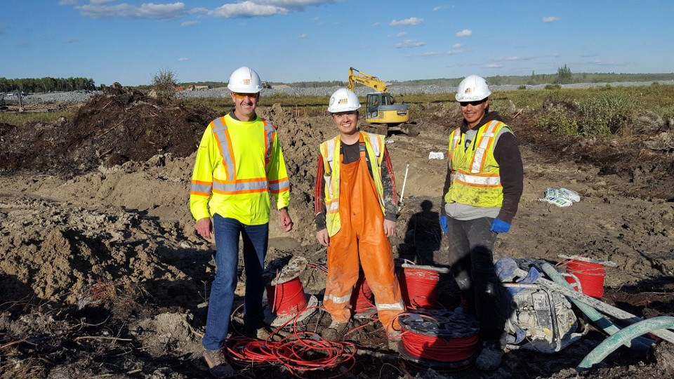 DST Consulting Engineers at the New Gold Rainy River mine site in 2017 (Facebook photo)