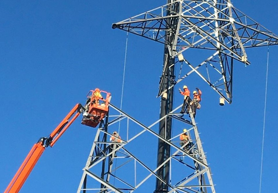 East-West Tie tower construction (