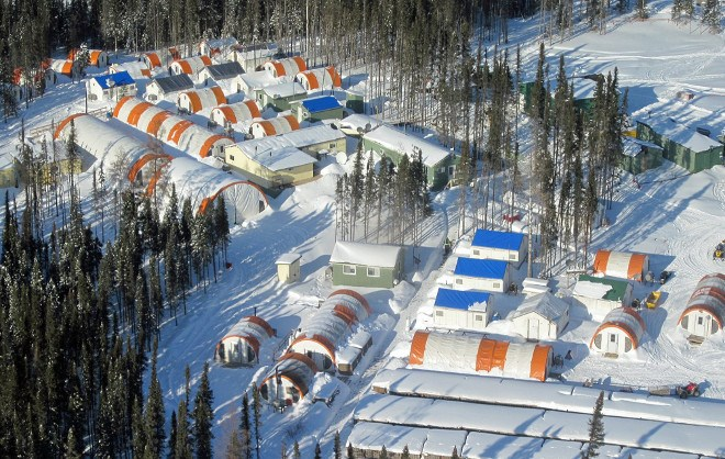 Noront Resources' Esker exploration camp in the Ring of Fire (Noront photo)