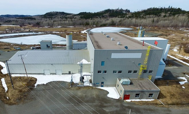 First Cobalt acquired the former Yukon Refinery, outside the community of Cobalt, in 2017. The company commissioned a study to consider restarting the facility as early as next year. (First Cobalt photo)