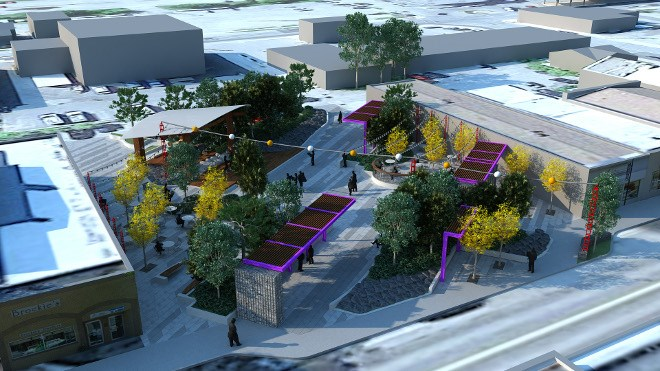 Supplied renderings of the Fort Frances market