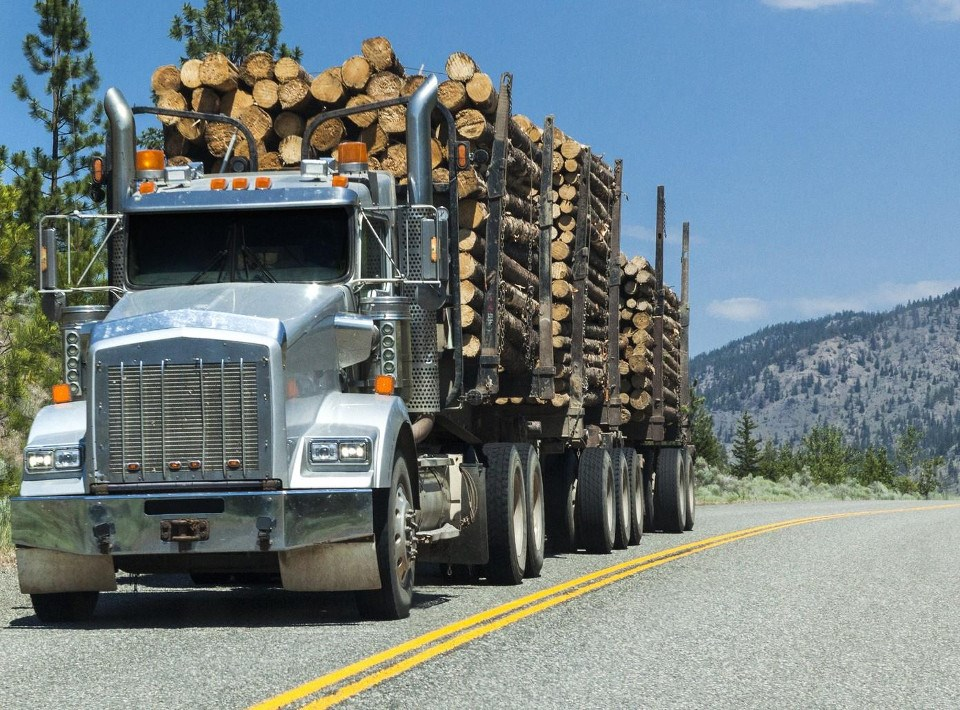 FP Innovations Facebook photo (logging truck)