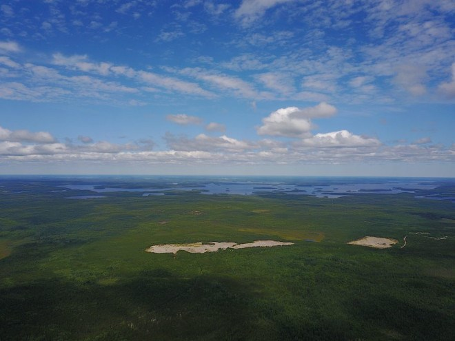 Great Bear Resources Dixie Lake skyline