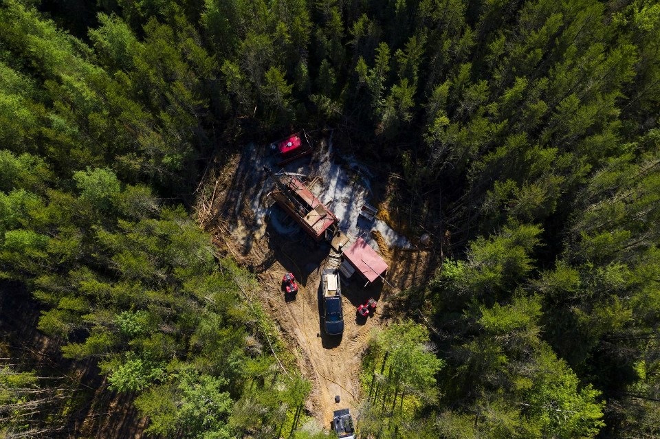Great Bear Resources Dixie Project drill site