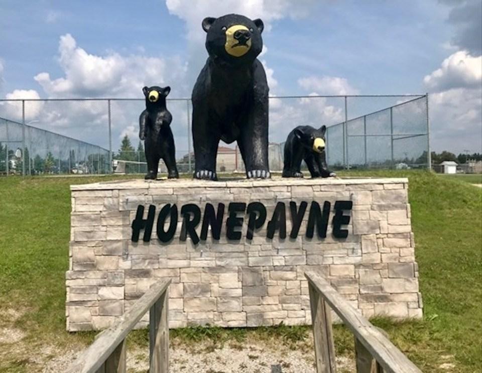 Hornepayne bear statue