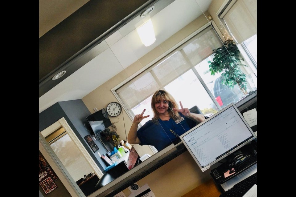 Sudbury health-care provider Kathy Wells McNeil was one of the first businesses in the city to install protective screens for her Regent Street clinic. (Photo supplied)